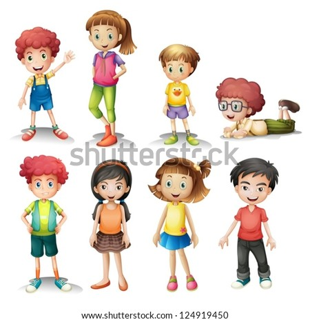 illustration of a group of kids