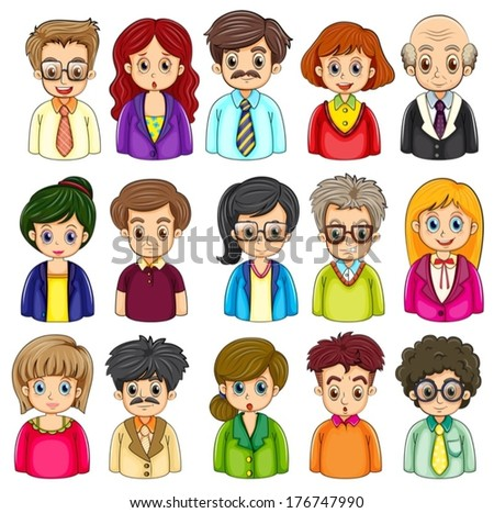 stock-vector-illustration-of-a-group-of-people-on-a-white-background