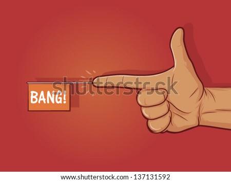 illustration of a gun hand