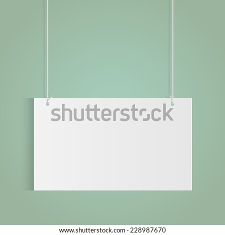 Illustration of a hanging sign isolated on a colorful background.