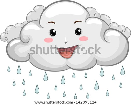 illustration of a happy cloud