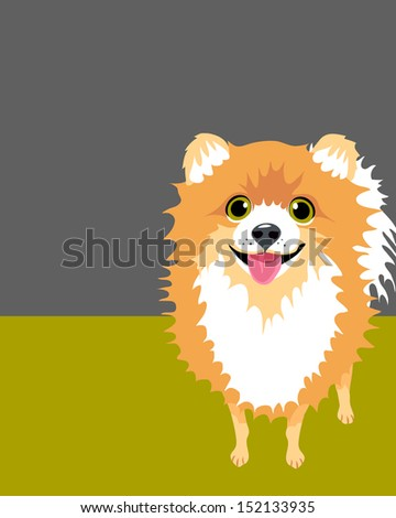 illustration of a happy funny