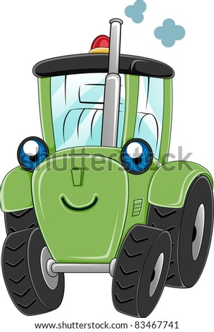Illustration of a Happy Tractor