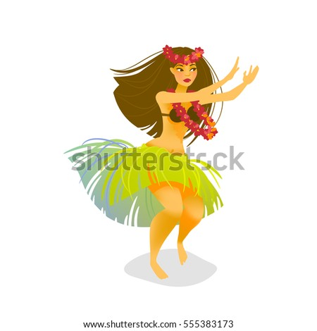 illustration of a hawaiian hula