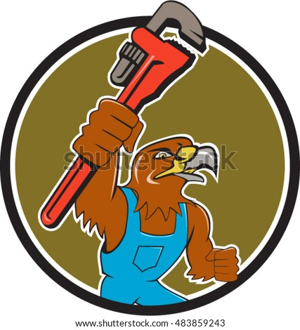 illustration of a hawk plumber