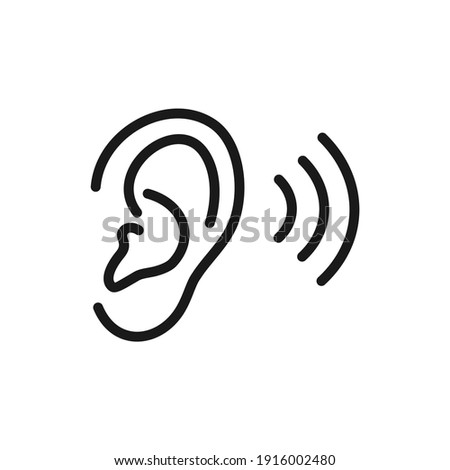 illustration of a hearing human ear icon Foto d'archivio ©