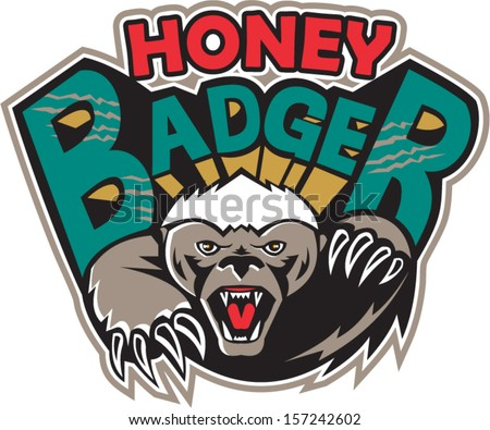 illustration of a honey badger