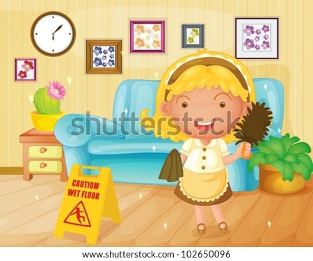 illustration of a housekeeper