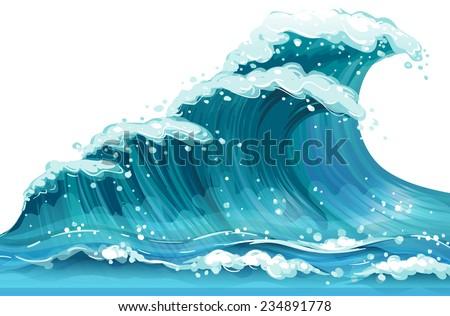 illustration of a huge ocean