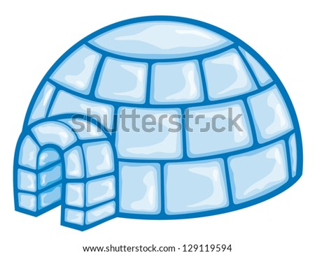 illustration of a igloo