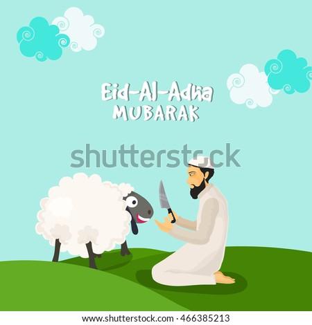 illustration of a islamic man