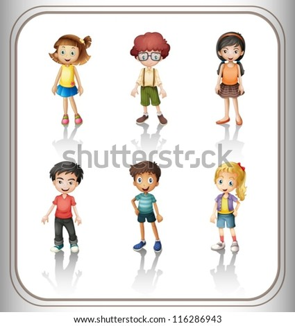 illustration of a kids on a