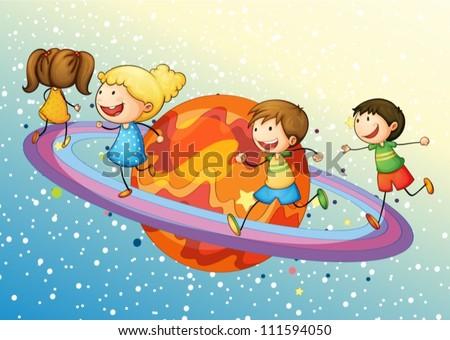 illustration of a kids on