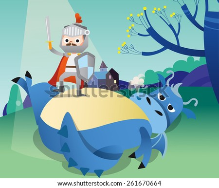 illustration of a knight and