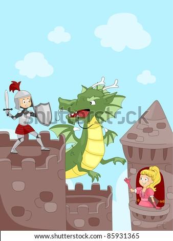 illustration of a knight