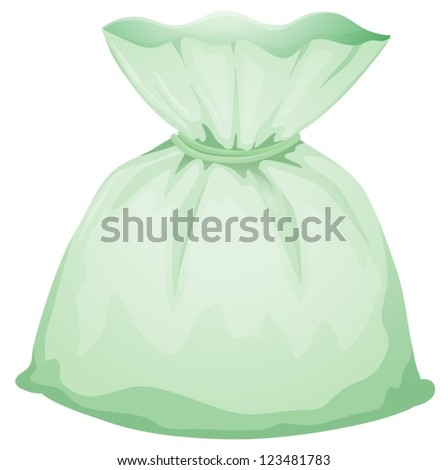 Illustration of a light green pouch on a white background - stock vector