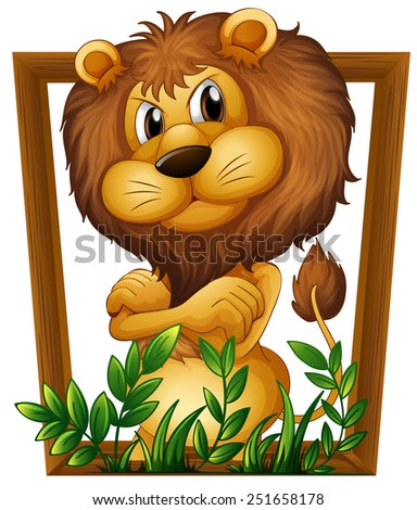 illustration of a lion in a