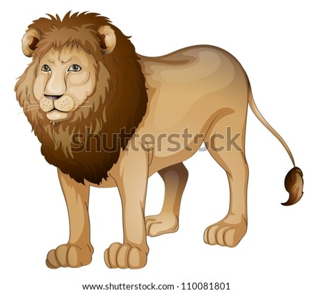illustration of a lion on a