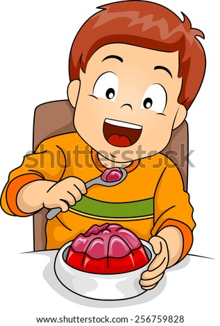 illustration of a little boy