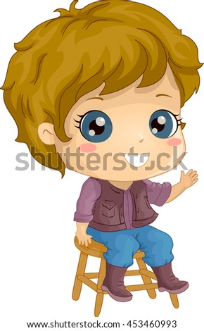 illustration of a little boy in