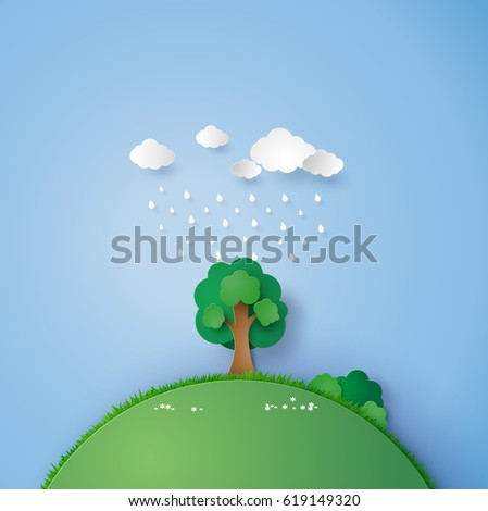 illustration of a lone tree in