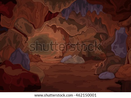 illustration of a magic cave