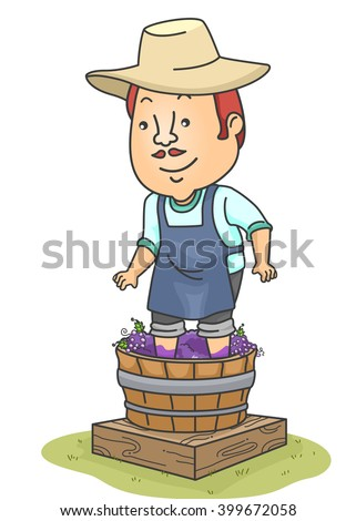 illustration of a man making