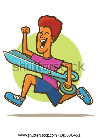 illustration of a man running
