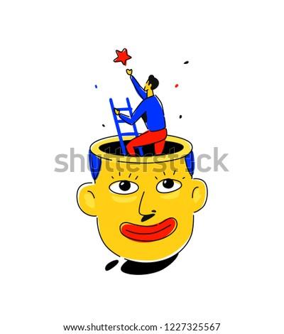 illustration of a man's head