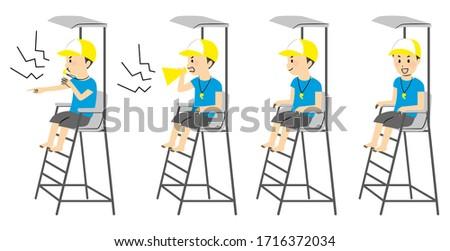 illustration of a man sitting