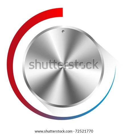illustration of a metal control knob used for regulating