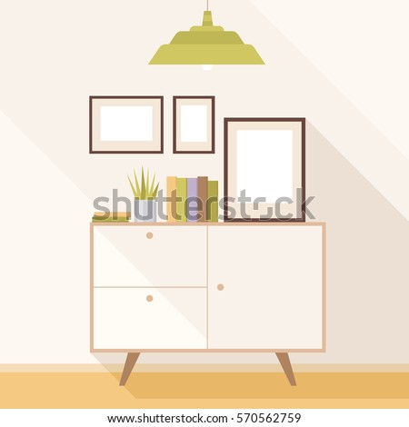 illustration of a modern living