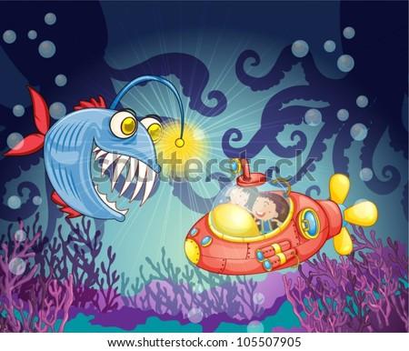 illustration of a monster fish