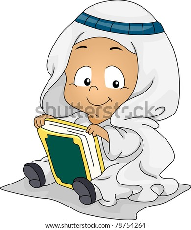 illustration of a muslim baby