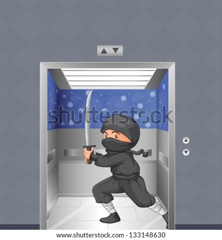 illustration of a ninja inside