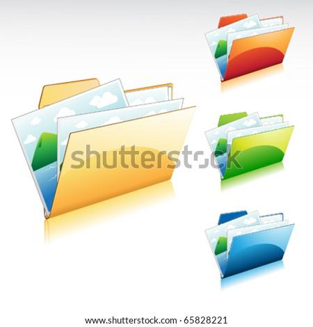 illustration of a of image folder icon