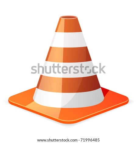illustration of a orange traffic cone