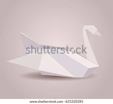 illustration of a paper origami