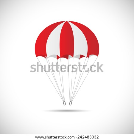 Illustration of a parachute isolated on a white background. Stock fotó ©