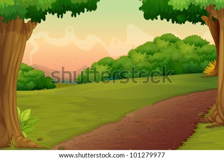 illustration of a path in a