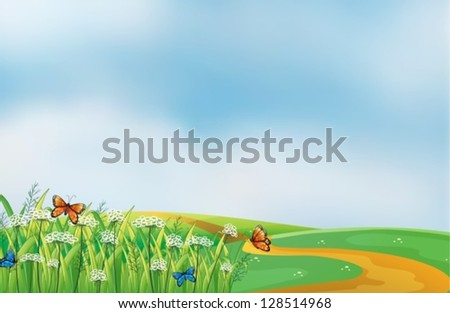 illustration of a pathway at