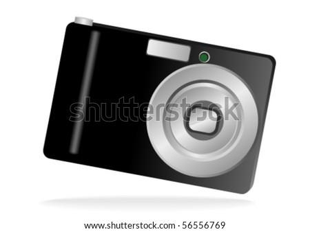 Illustration of a photo camera isolated on white