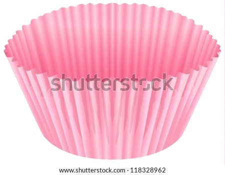 illustration of a pink cup on a white background