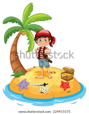 illustration of a pirate on an
