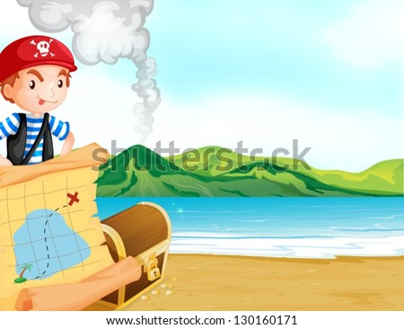 illustration of a pirate with a
