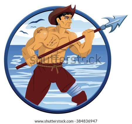 illustration of a pirate with