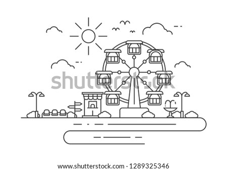 Ferris wheel - Download Free Vector Art, Stock Graphics & Images