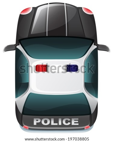 illustration of a police