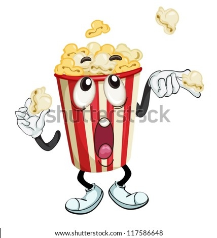 illustration of a popcorn on a