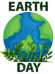 Illustration of a poster of an Earth Day